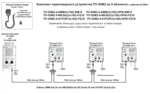 ПУ-05М2-4-КММ переговорное устройство на 4 абонента