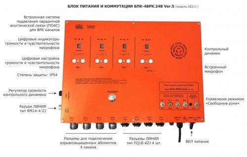 Блок БПК-4ВРК.24В V.5 питания и коммутации